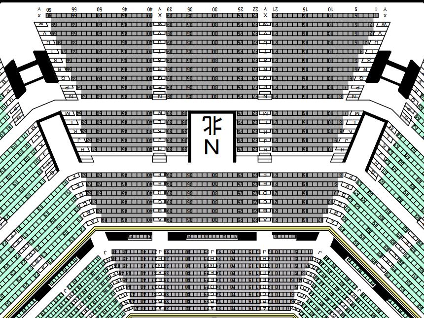 日本武道館座席表N