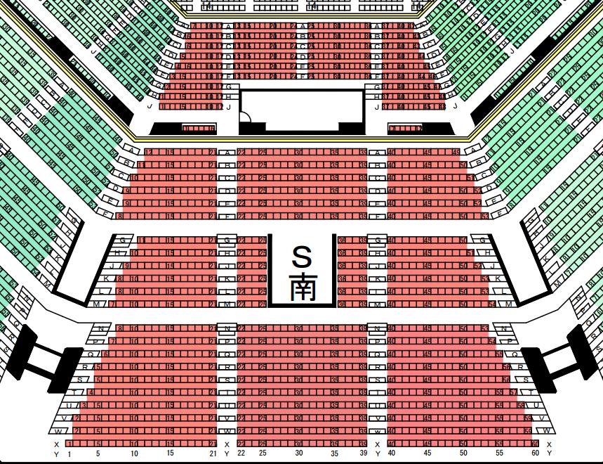 日本武道館座席表南