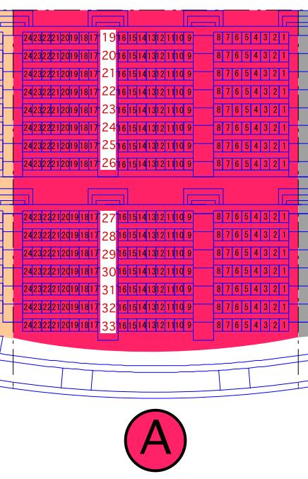 ガイシホールスタンド座席表A