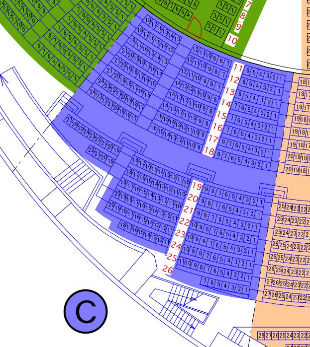 ガイシホールスタンド座席表C