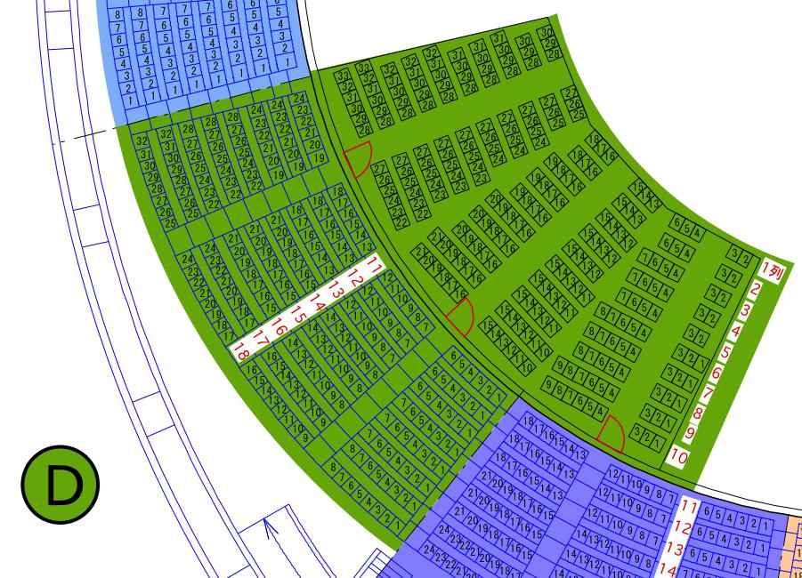 ガイシホールスタンド座席表D