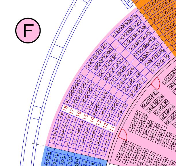 ガイシホールスタンド座席表F