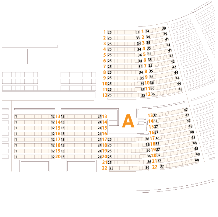 大阪城ホールAブロック座席表