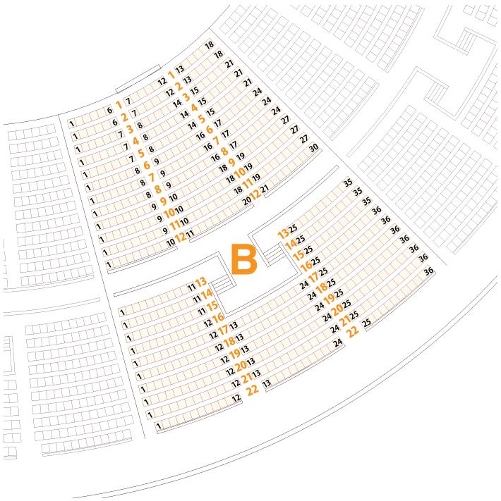 大阪城ホールBブロック座席表