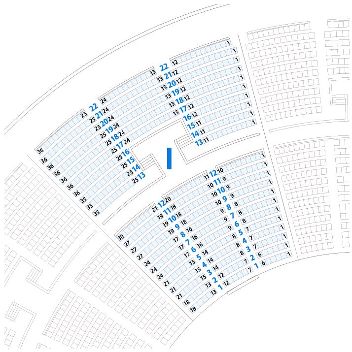 大阪城ホールIブロック座席表