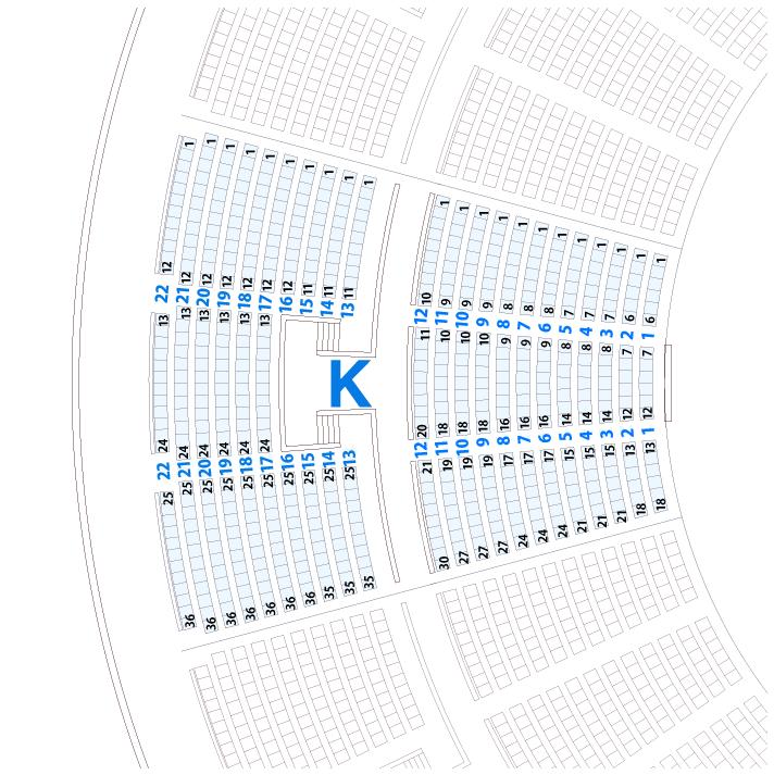 大阪城ホールKブロック座席表