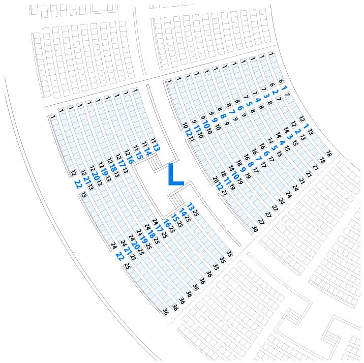 大阪城ホールLブロック座席表