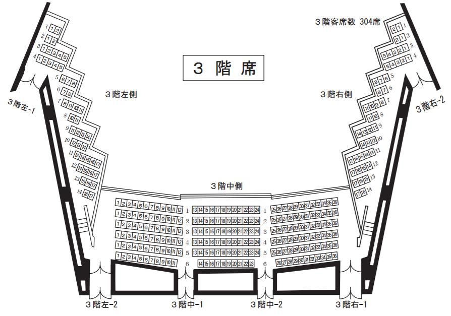 大ホール(3階席)