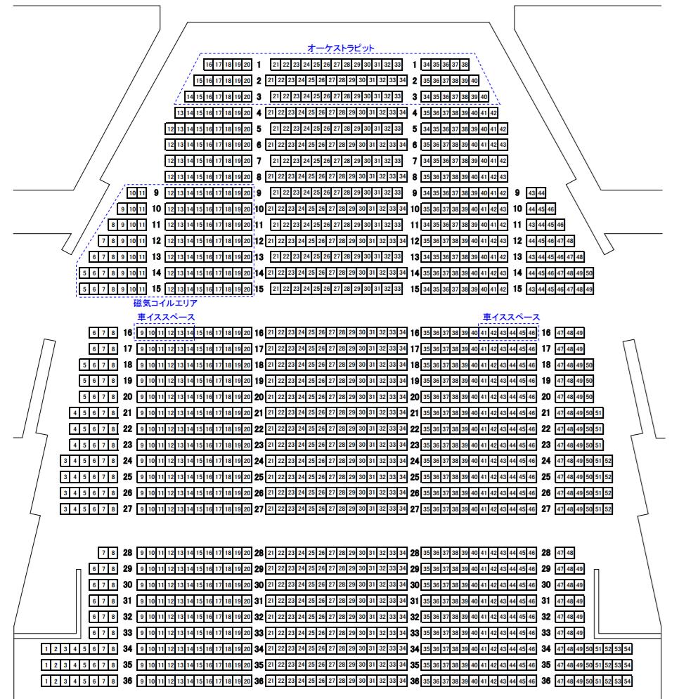 茨城県立県民文化センター大ホール座席表