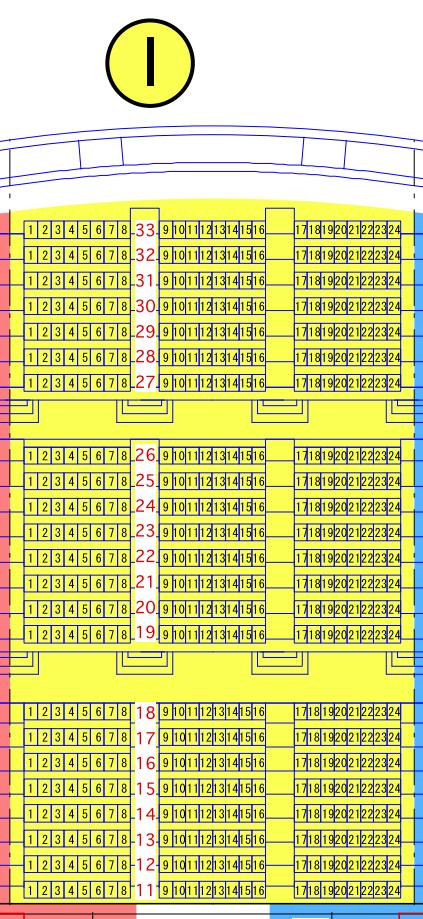 ガイシホールスタンド座席表I