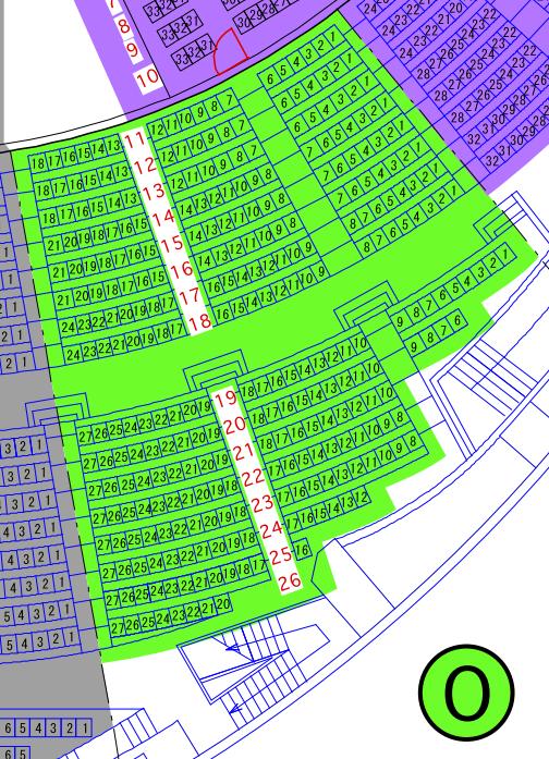 ガイシホールスタンド座席表O