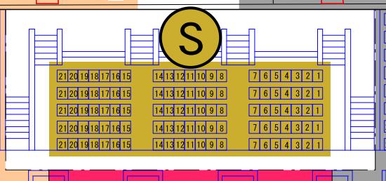 ガイシホールスタンド座席表S