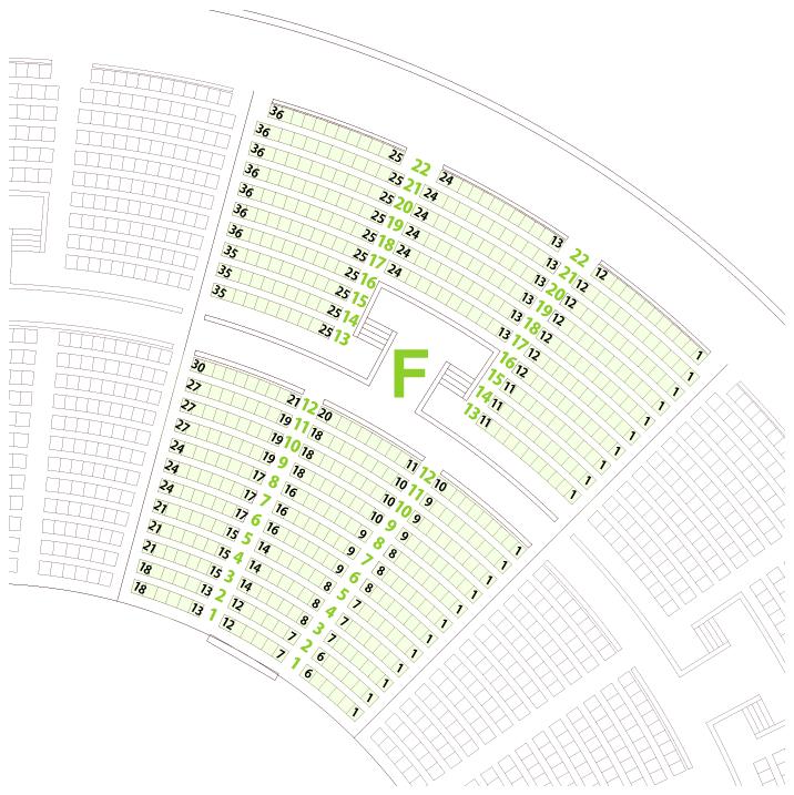 大阪城ホールFブロック座席表