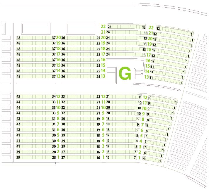 大阪城ホールGブロック座席表