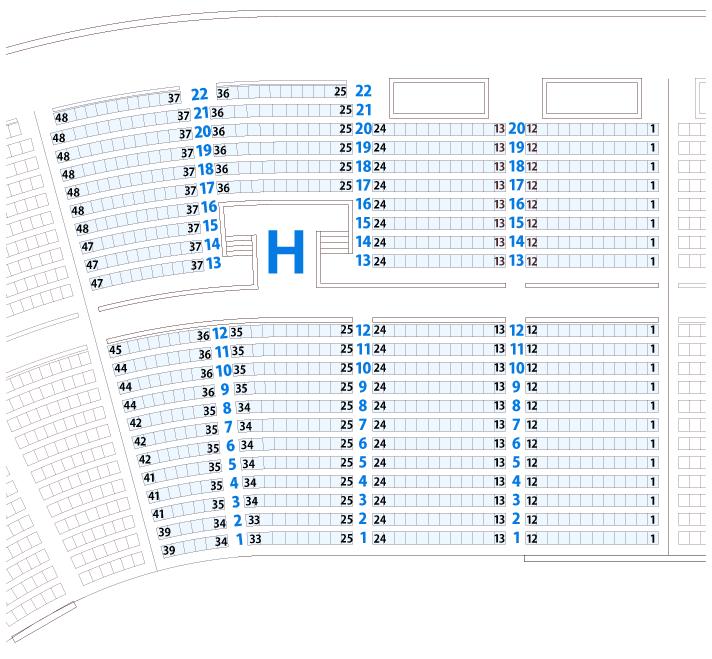 大阪城ホールHブロック座席表