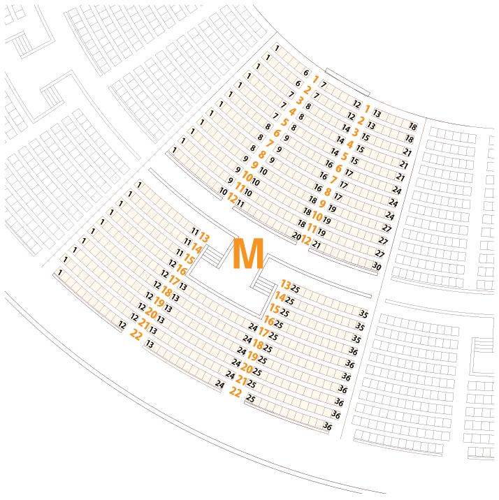 大阪城ホールMブロック座席表
