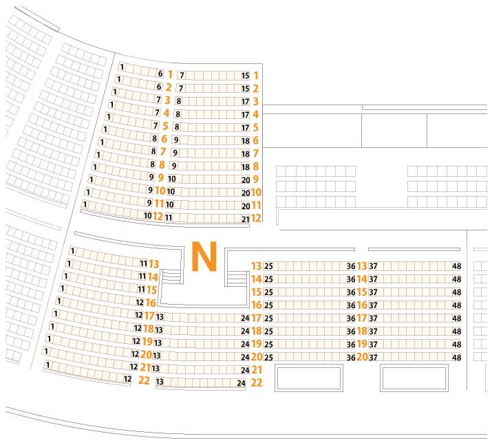 大阪城ホールNブロック座席表