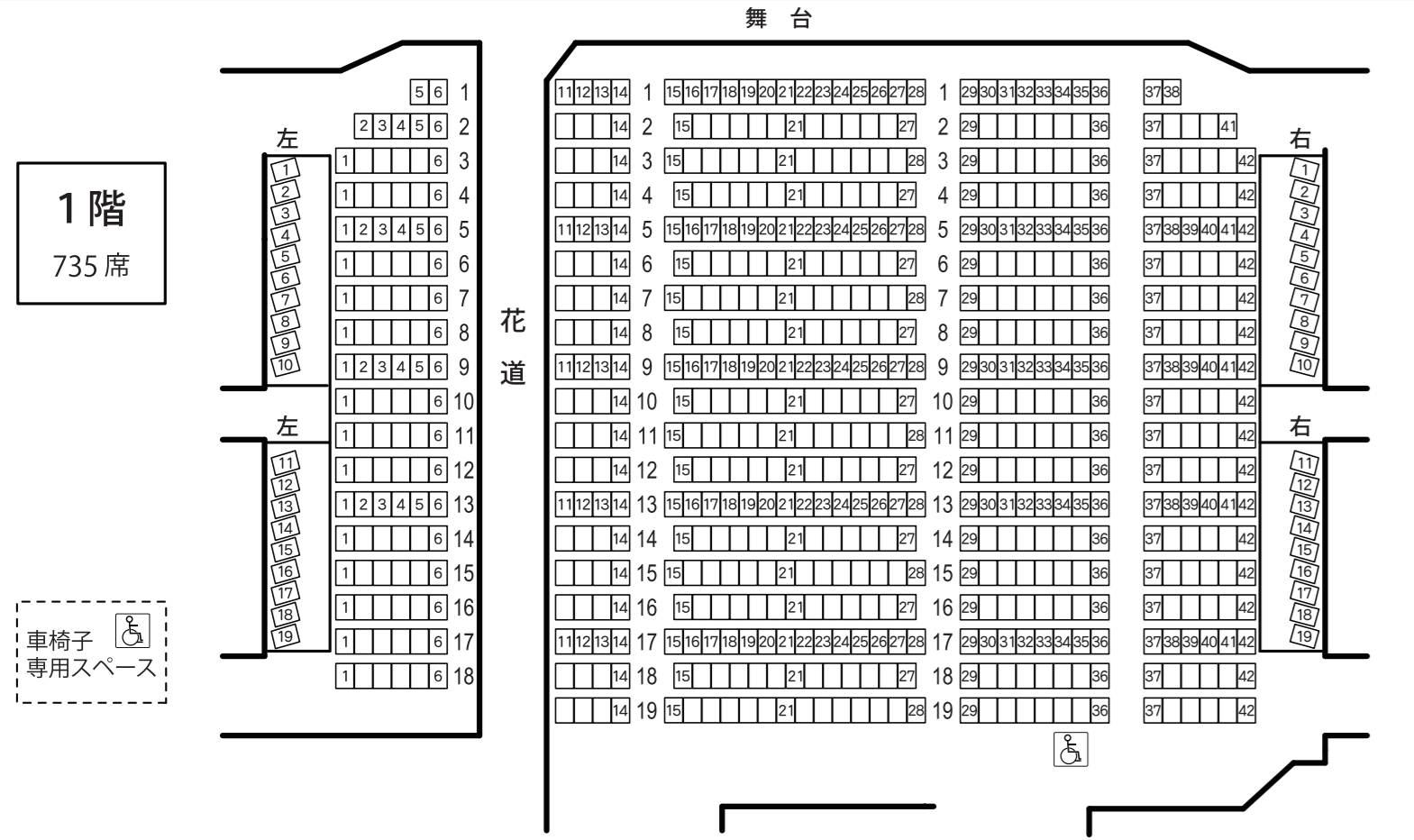 1階席(花道あり)