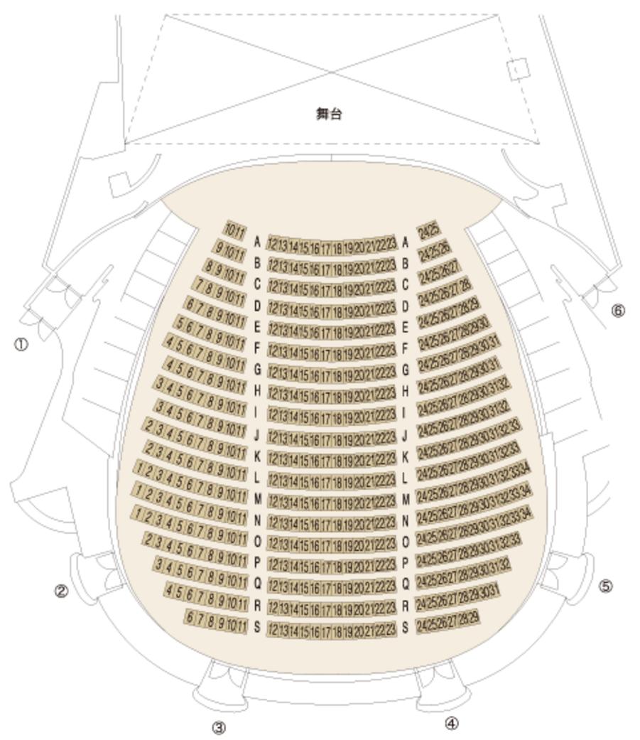 1階席座席表