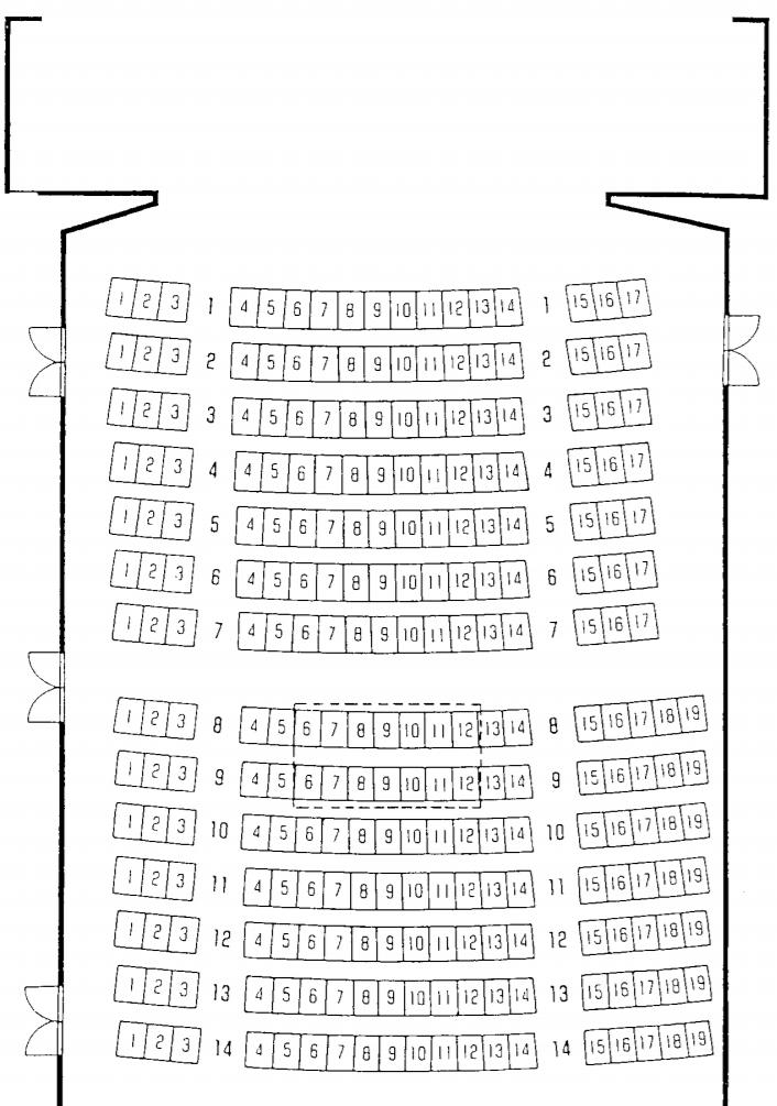 千葉県文化会館小ホール座席表