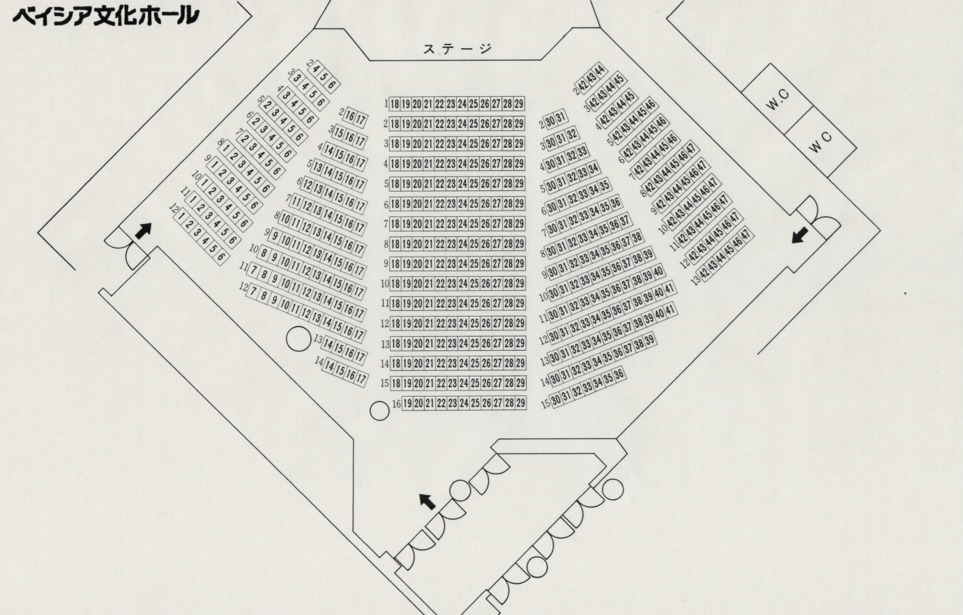群馬県民会館小ホール座席表
