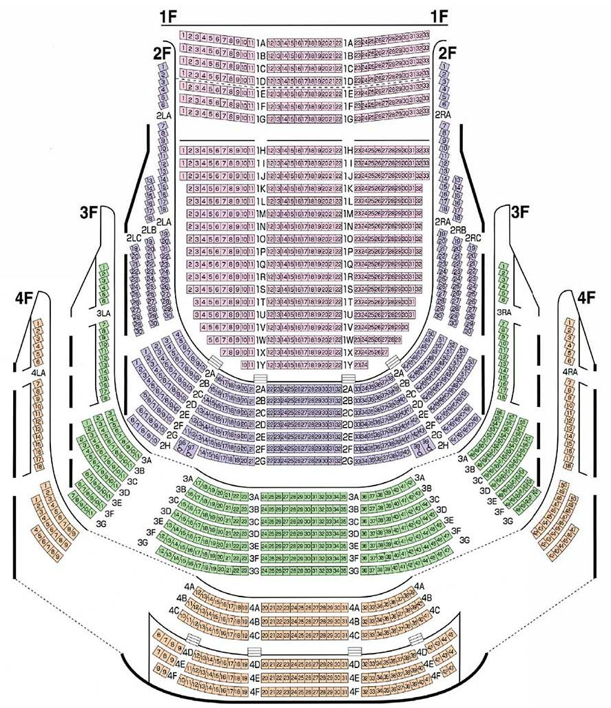 滋賀県立芸術劇場びわ湖ホール大ホール座席表