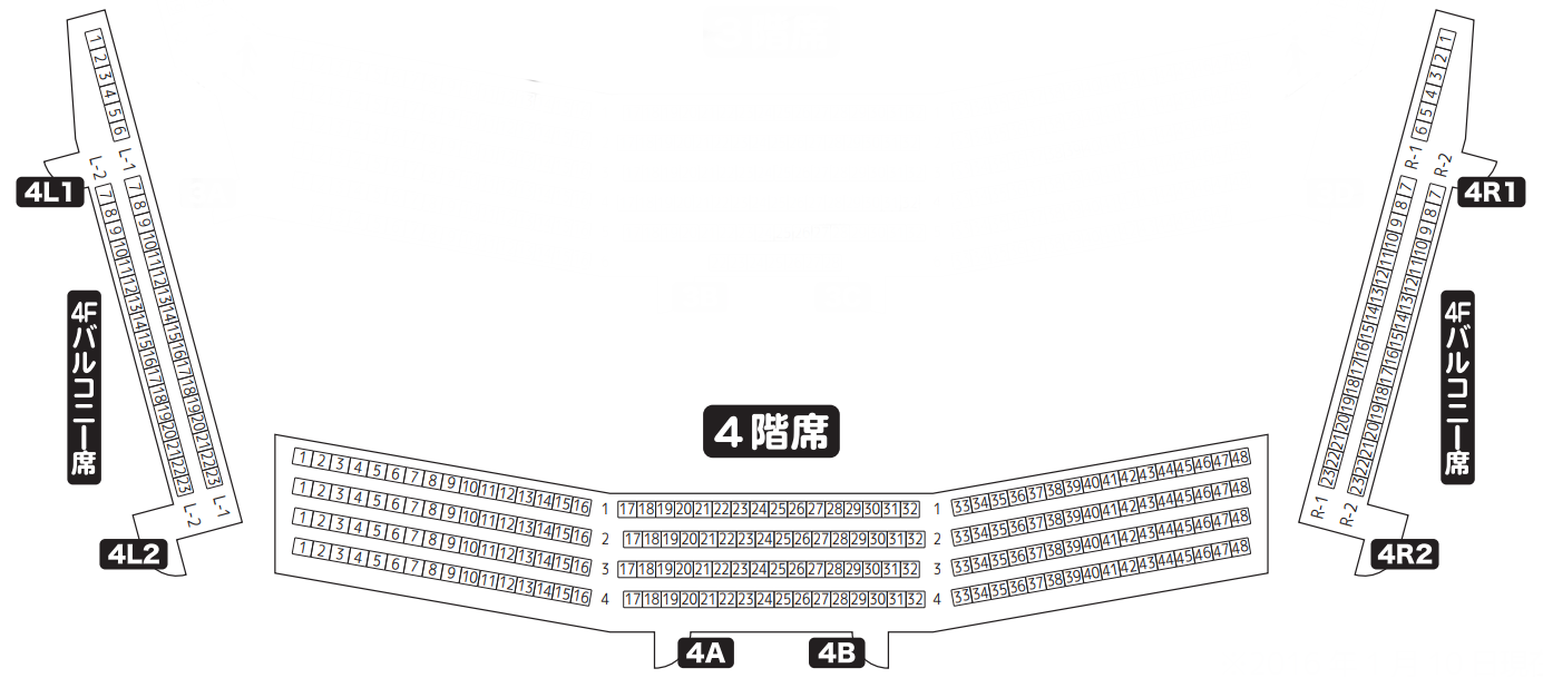 京都会館メインホール4階席座席表